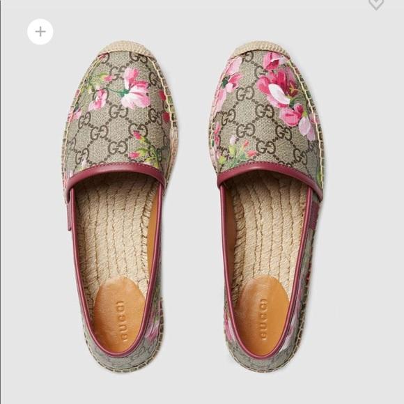 3bf6f849 Gucci Shoes | Gg Blooms Supreme Espadrille | Poshmark